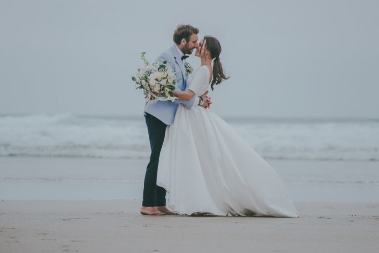 Modern Informal Coastal Wedding In Cornwall