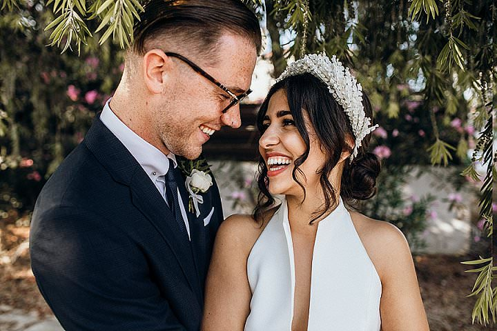 This couple went for a modern and stylish 'big fat Greek' wedding