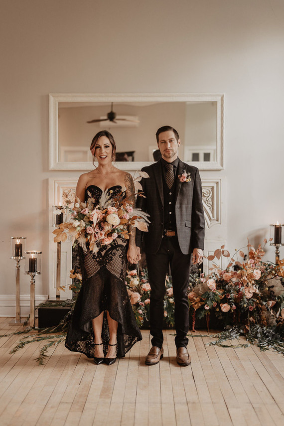 Refined Moody Earthy Tone Wedding Shoot
