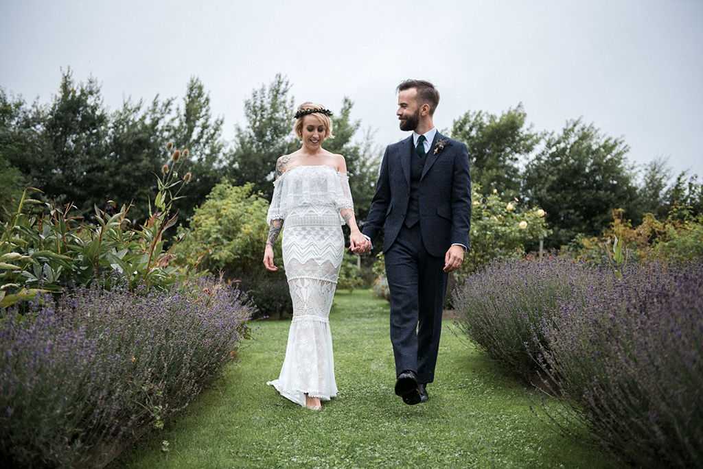 This eco friendly boho wedding was all about the couple, their choices and tastes and zero waste