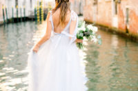 01 This wedding shoot took place in Venice and was done with a subtle and tender color palette unlike usual Venice weddings in jewel tones
