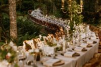 01 This wedding should be seen at least because of the longest reception table in the woods
