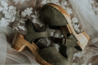 02 The bride was wearing comfortable olive green platform shoes