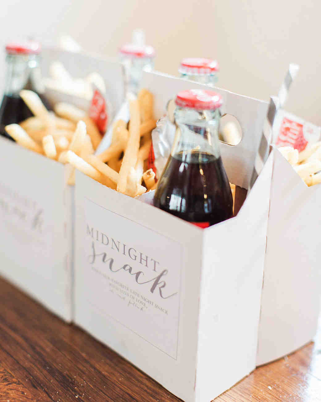 a bottle of Coke, fries, and burgers make the ultimate late night snack—and will help satisfy your guest's post drinking cravings