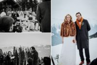 faux fur coverup is perfect for a snowy wedding