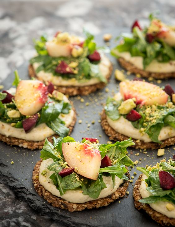 dried cherry crackers with pine nut pepper cheese are a delicious raw and vegan appetizer