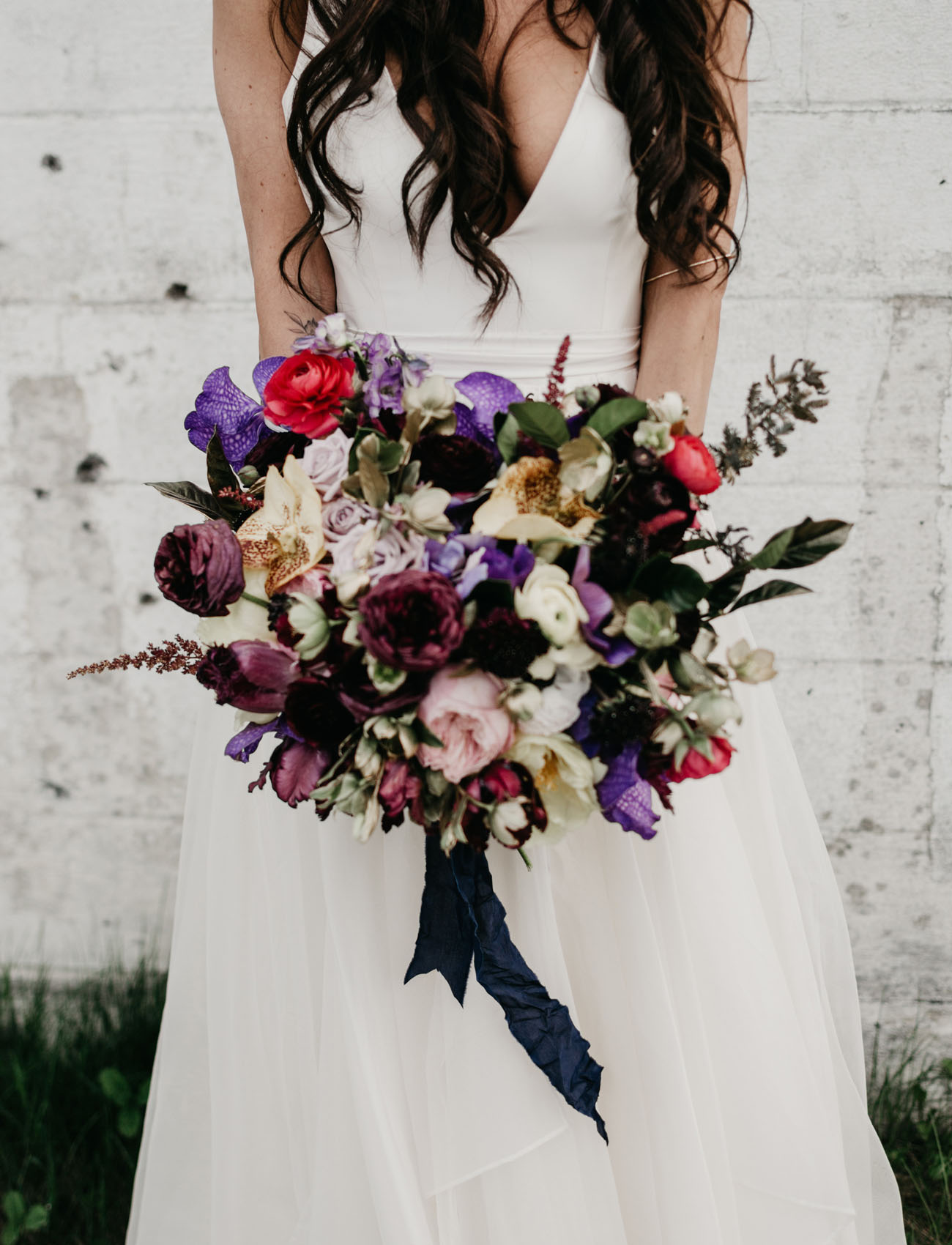bold bouquet in moody tones