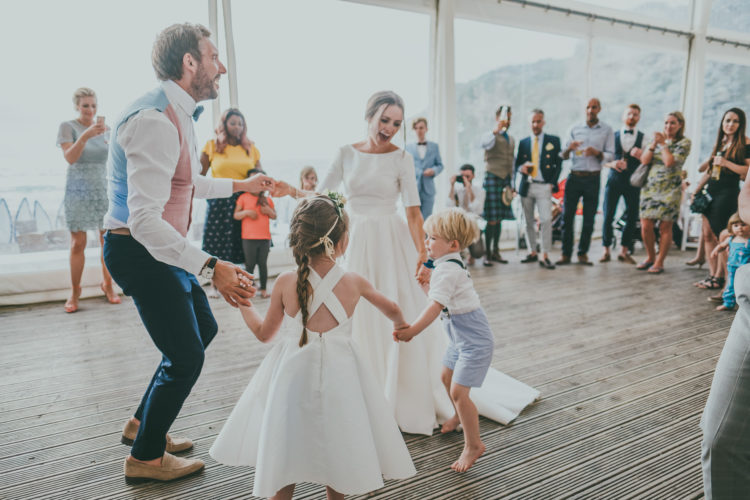 The couple's children took an active part in their wedding