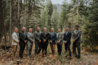 06 The groom was wearing a three-piece suit in grey and a printed tie, the groomsmen were wearing mismatching looks
