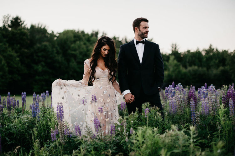 For her second look, the bride added a celestial sher overdress to make it very dreamy