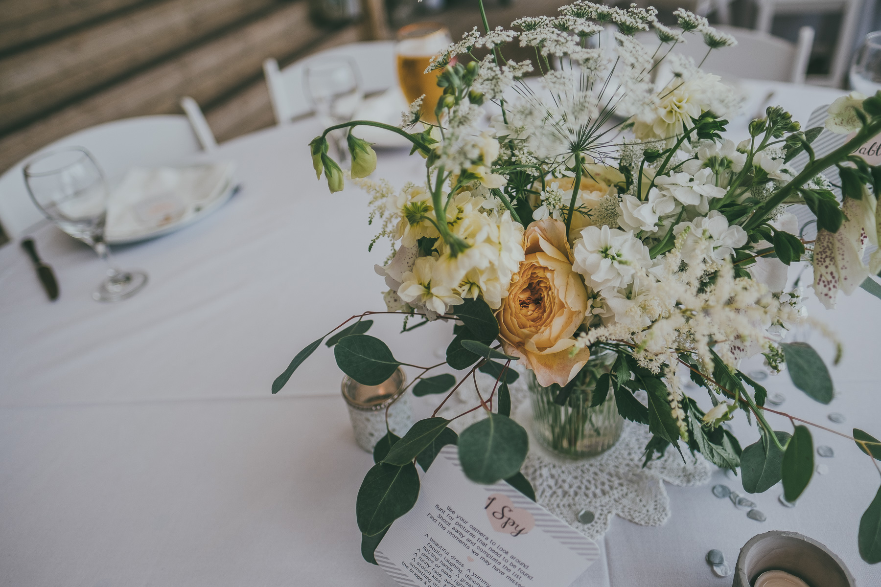 neutral reception table decor works for any style wedding