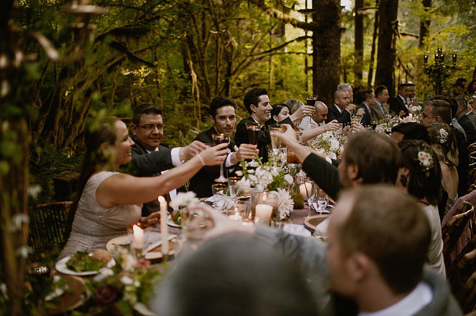 Everyone enjoyed their feast in the woods a lot