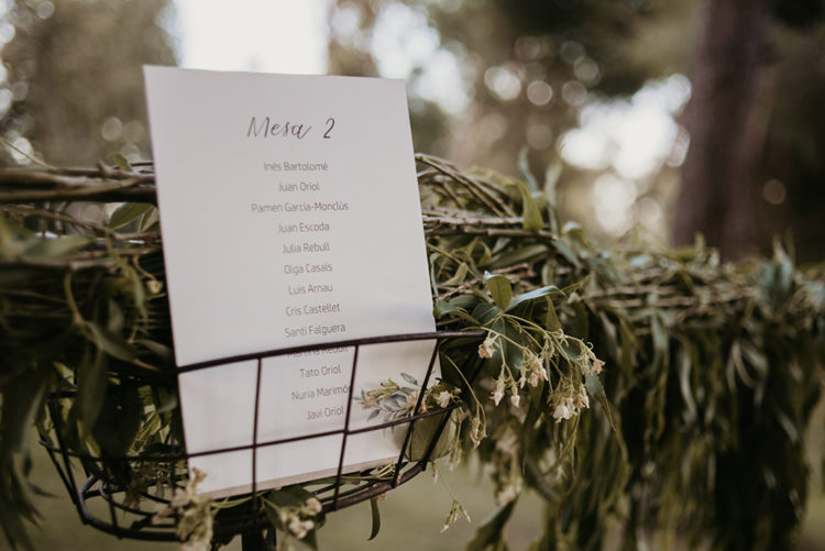 The wedding stationery was all-neutral and there was much greenery used for decor