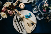 09 Celestial touches were added to each place setting