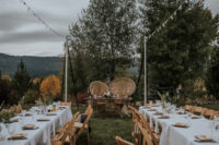 09 The wedding reception took place outdoors, it was styled with boho and modenr touches