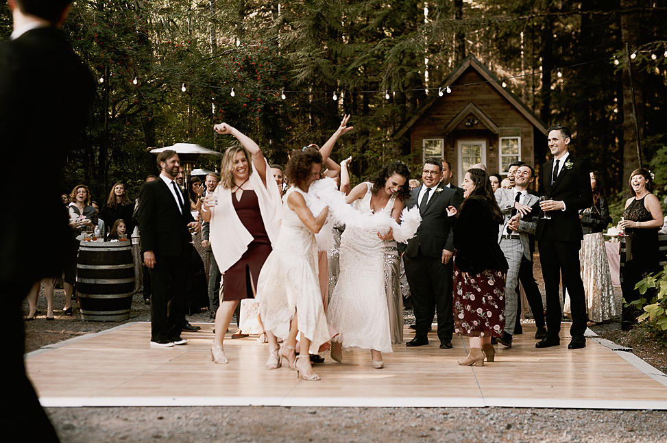 There was much fun at the wedding and everybody was dancing