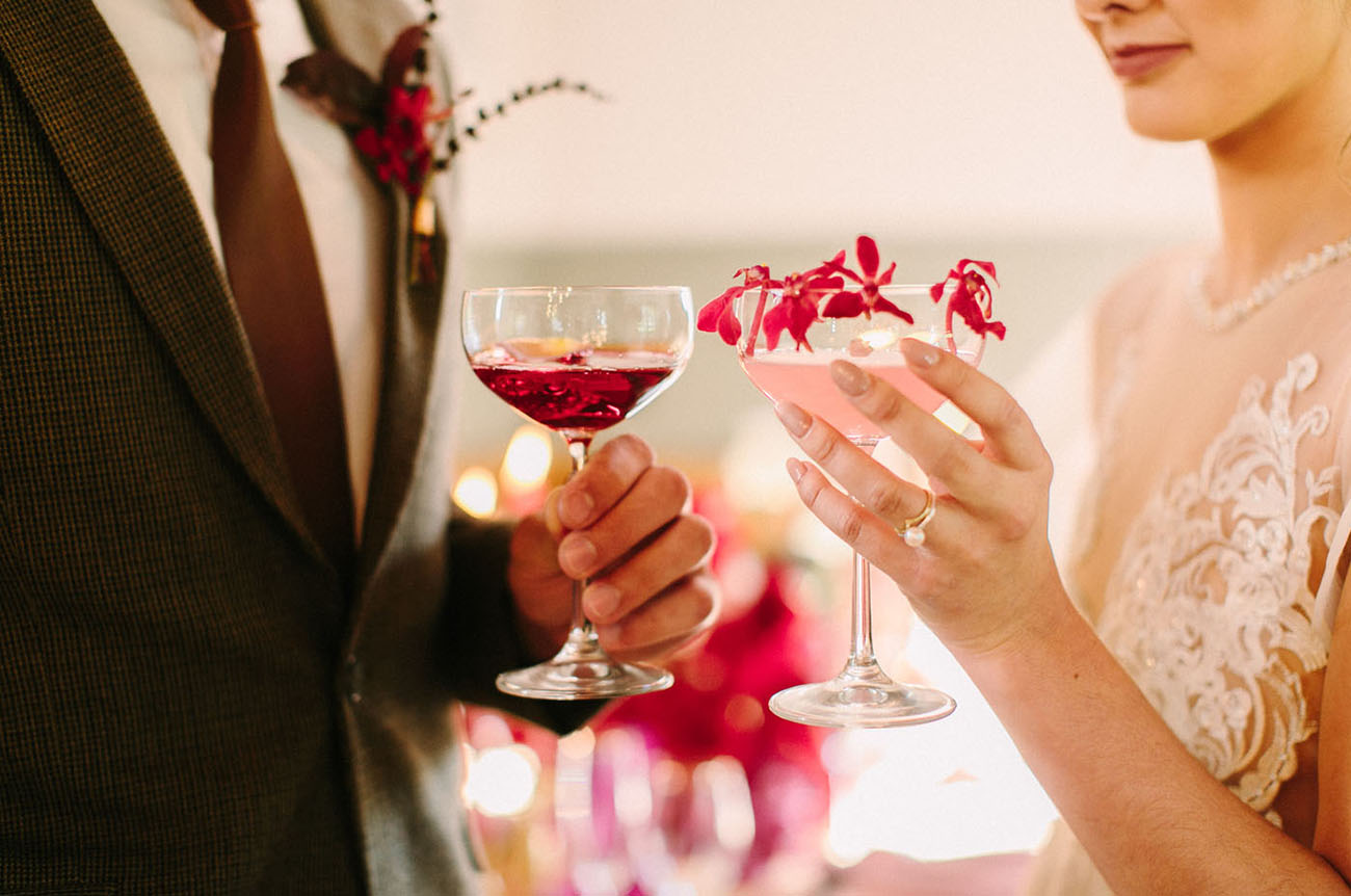 gorgeous cocktails are great additions to wedding photos