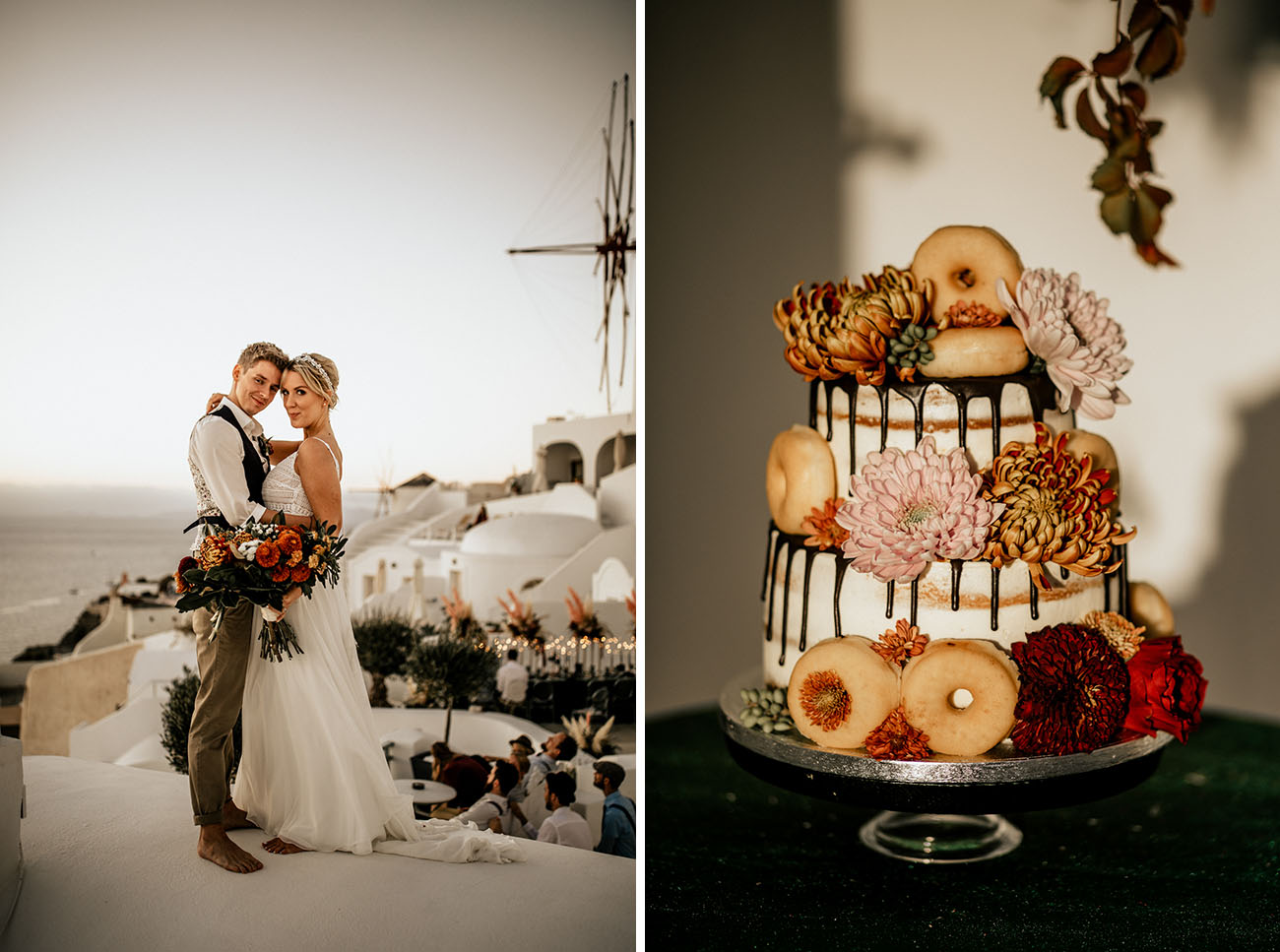 donuts works well as desserts on weddings