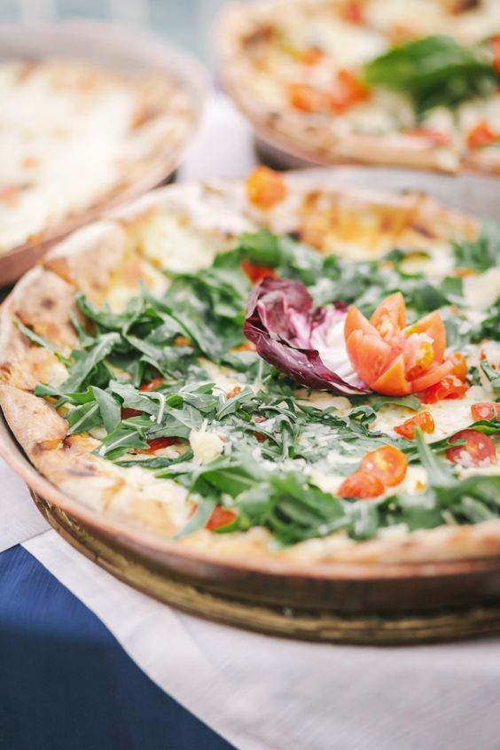 delicious pizzas will make your guests very happy and will fit most of guests, even vegetarians if necessary