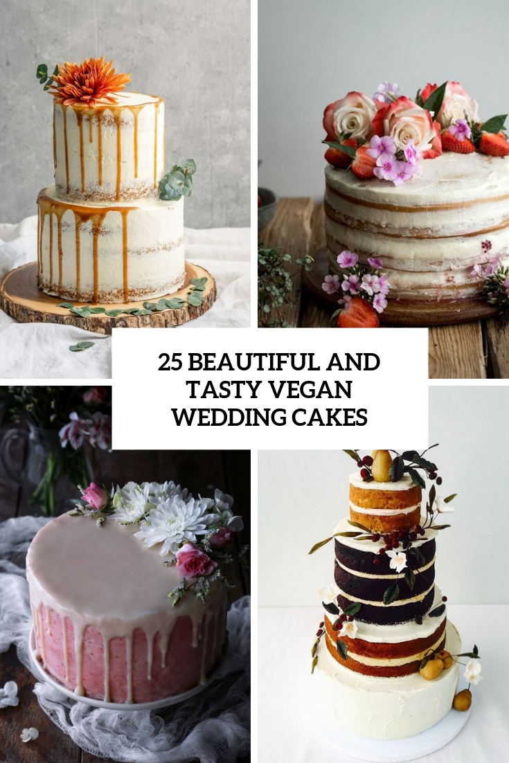 beautiful and tasty vegan wedding cakes cover