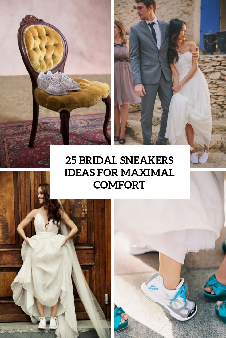 25 Bridal Sneakers Ideas For Maximal Comfort