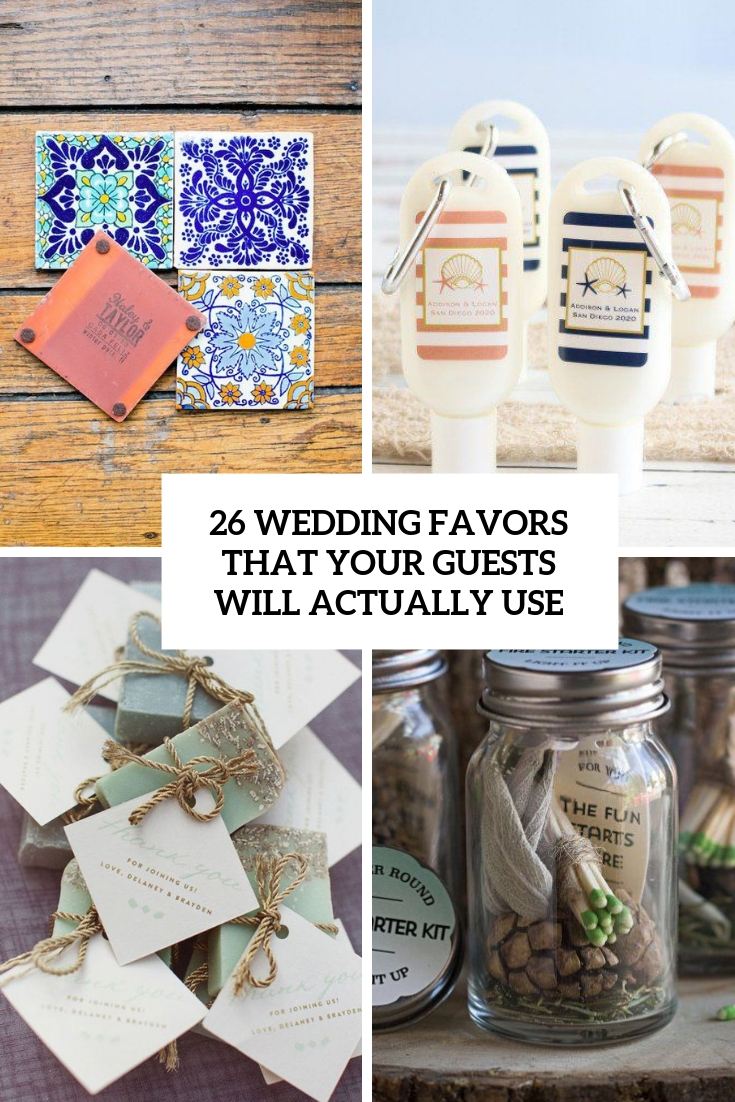 26 Wedding Favors That Your Guests Will Actually Use