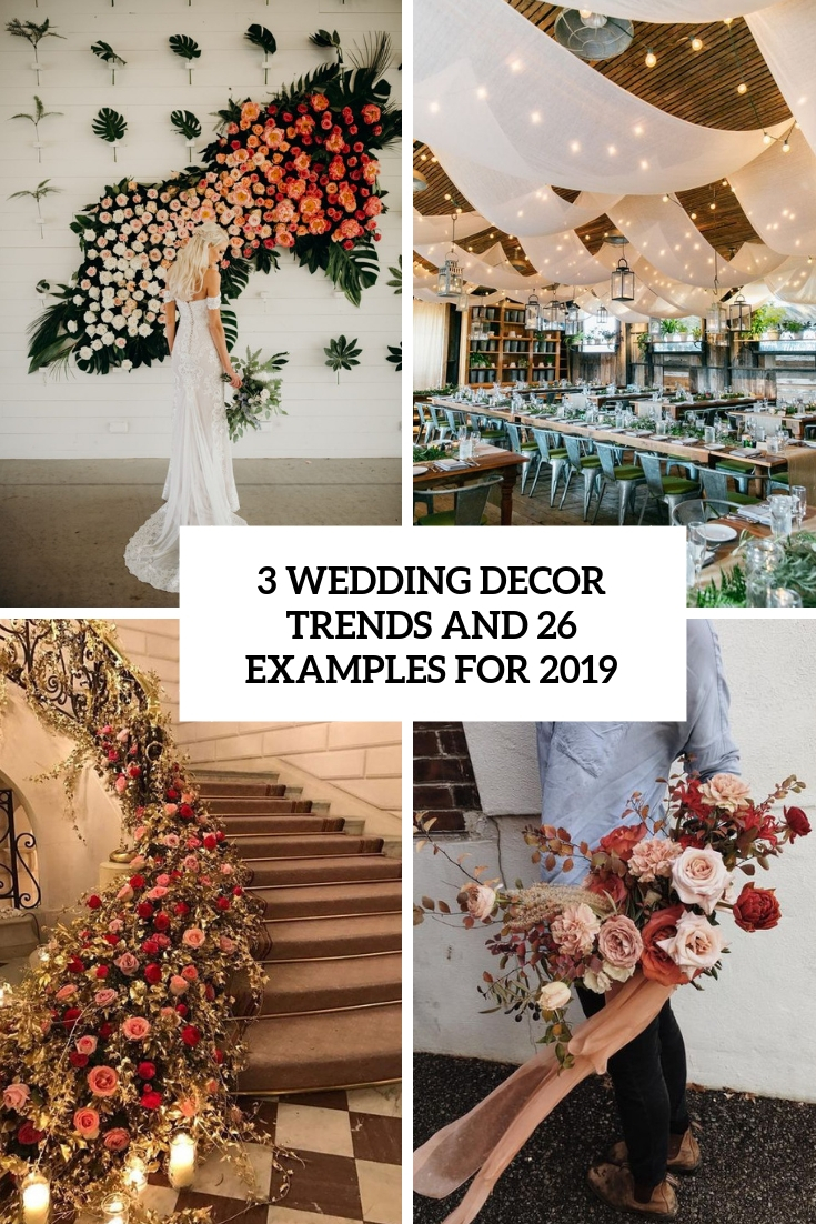 3 wedding decor trends and 26 examples for 2019 cover
