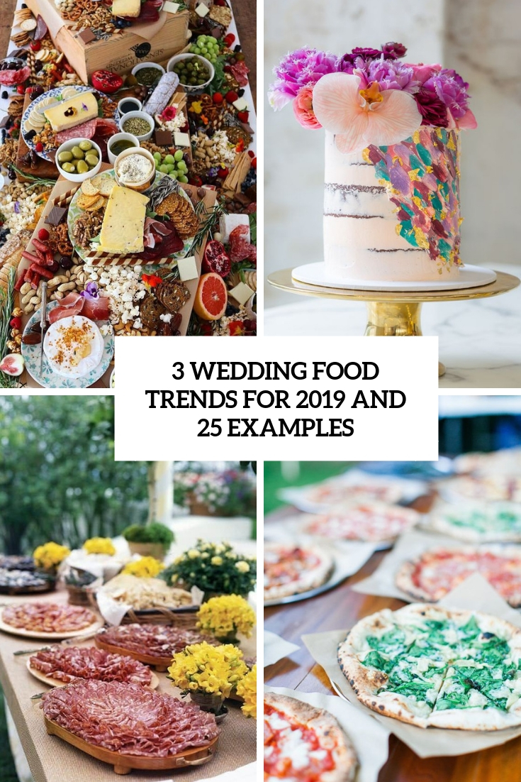 3 wedding food trends for 2019 and 25 examples cover
