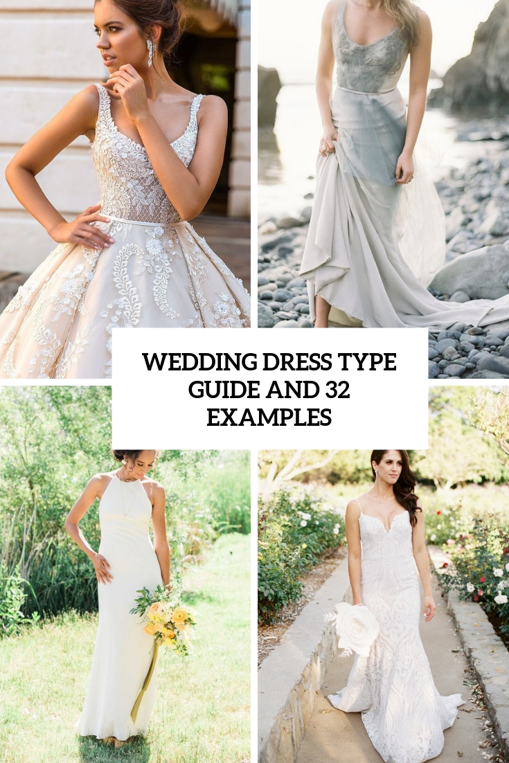 wedding dress type guide and 32 examples cover
