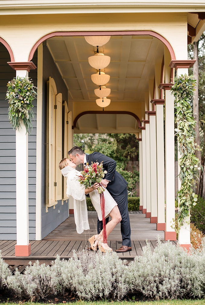 Colorful Cottage Elopement With Retro Touches