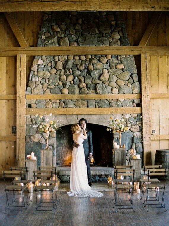 This modern rustic wedding shoot was inspired by Colorado nature, and it was elevated