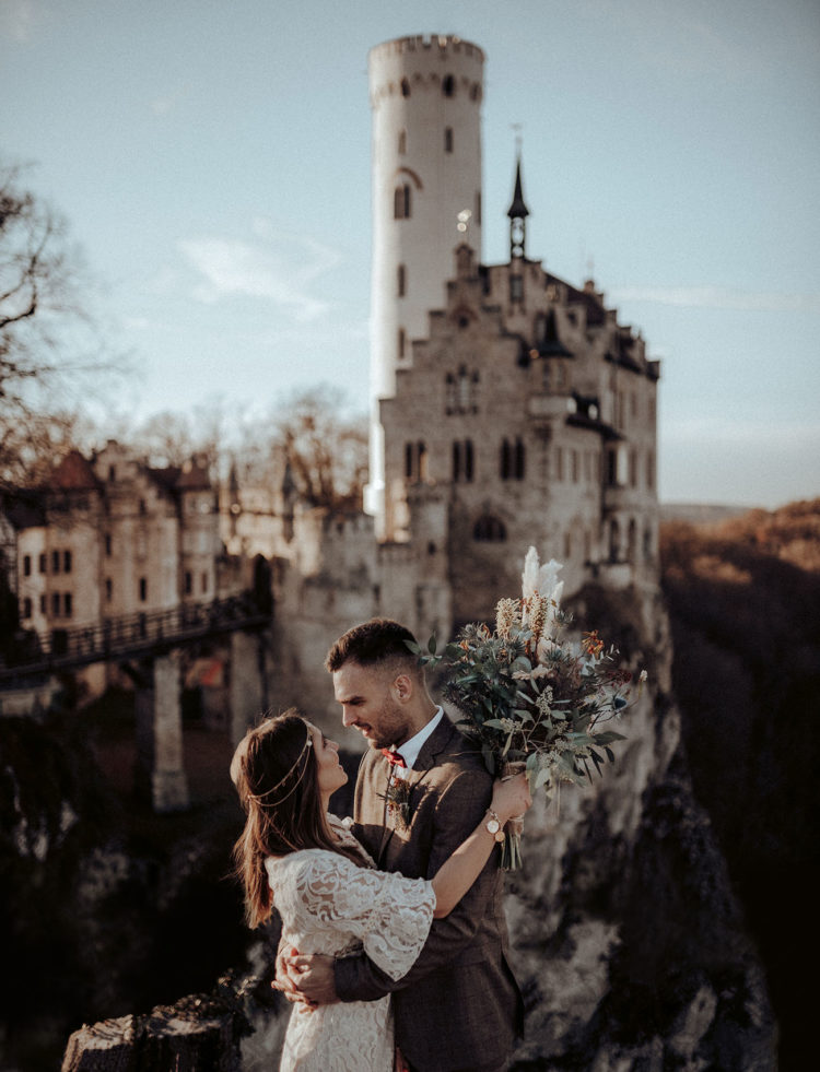 Boho Elopement Shoot At A Gothic Castle