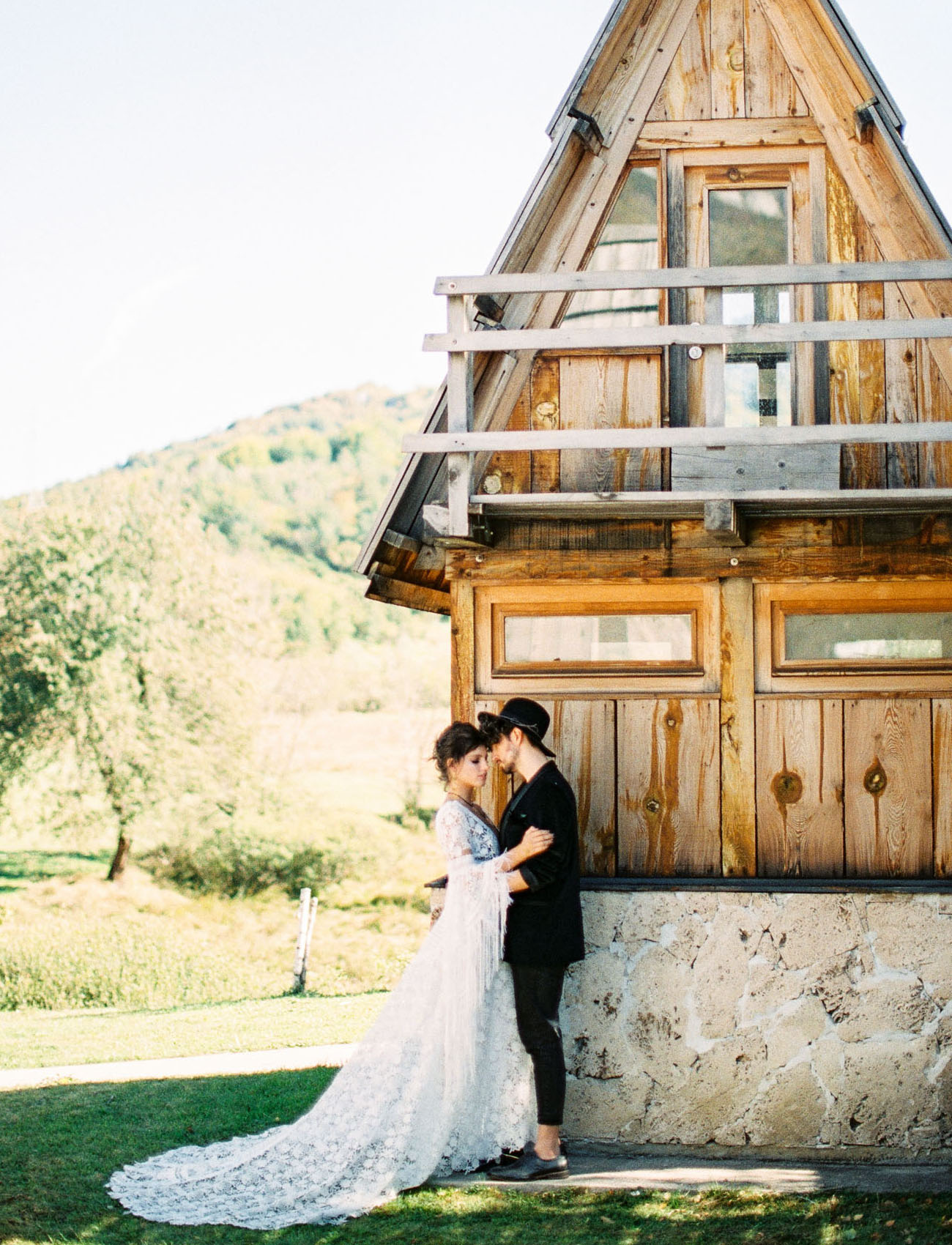 This wild and free spirited wedding shoot took place in Montenegro
