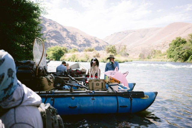 First, the couple had to make a long river trip and then walk to get to the place