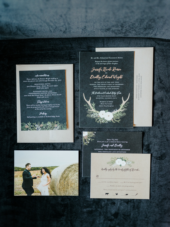 The wedding stationery was done with engagement pics of the couple