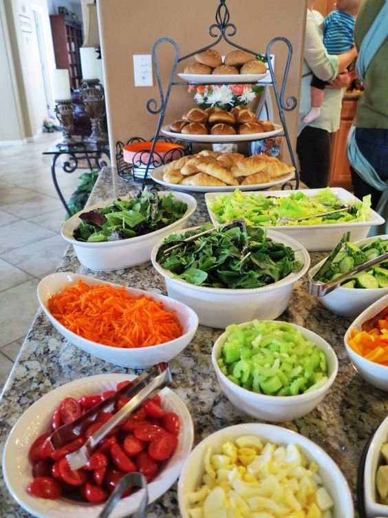 a fresh salad bar is the most evident idea for a vegetarian wedding, fresh veggies are healthy
