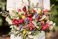 05 The wedding bouquet was done with lots of colorful blooms, greenery and textural herbs
