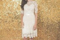 05 a gold sequin backdrop is a timeless idea, which works for New Year, winter, Christmas and glam weddings