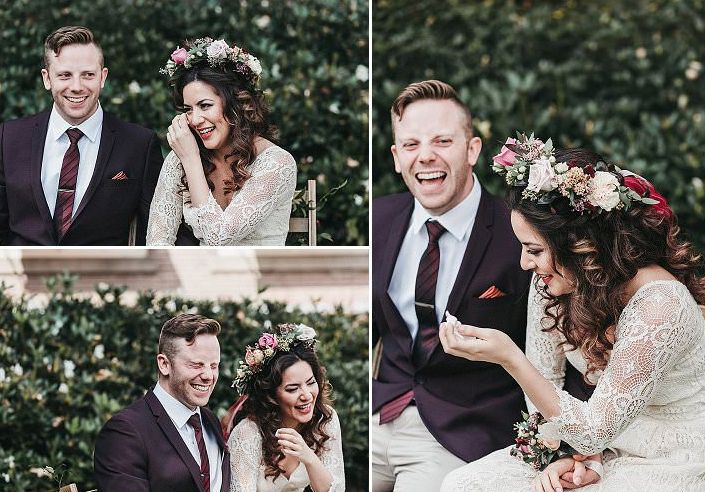 It was a small and stylish boho elopement with a lot fo emotion
