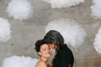 06 a 3D cloud photo booth backdrop will turn your pics into dreamy ones