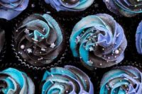 06 vegan galaxy cupcakes with a hidden vegan Milky Way inside and topped with cosmic swirls look wow