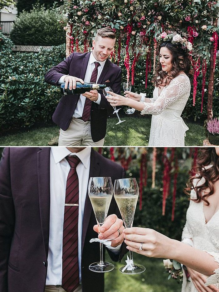 It was a small and intimate ceremony followed by champagne and appetizers