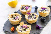 08 mini vegan tarts with cashew lemon custard and blueberries and blackberries are fantastic