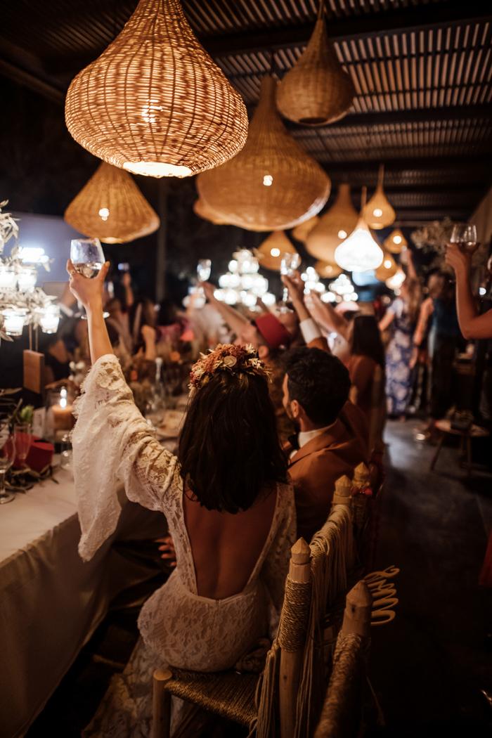 The wedding was full of fun, lights and joy