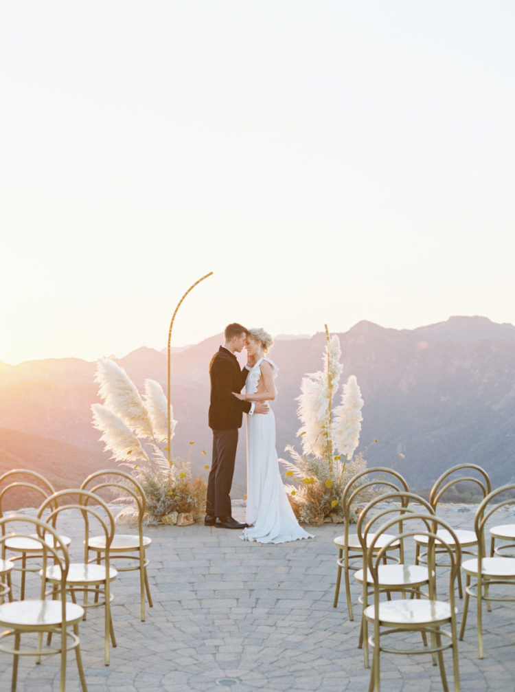 Such a sunlit ceremony space is a gorgeous spot to tie the knot