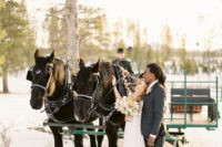10 Why not ride a horse sleigh for your winter wedding