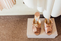 11 copper knotted mules by Jimmy Choose are a hot idea to accent your wedding outfit and give it an edgy feel