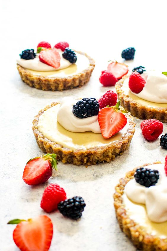 white chocolate lemon cream tarts are healthy, vegan, paleo and gluten free and you'll totally enjoy the taste