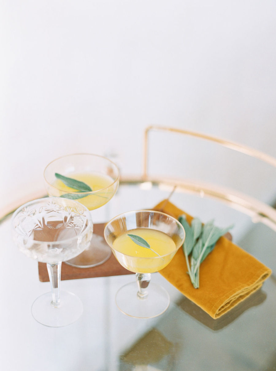 There were some cocktails mixed for the shoot, too