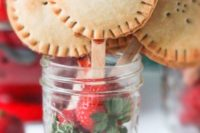 20 delicious vegan strawberry pie pops served with fresh berries in jars are a fun idea for summer